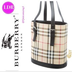 BURBERRY London Nova Check Coated Canvas Bucket